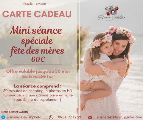offre spécial fête des mères - mini séance photo - carte cadeau